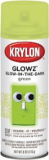 Krylon K03150 Glowz Glow-in-The-Dark Paint, Green, 6 Ounce, Small Can