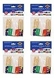 Beistle S60108AZ4 International Flag Picks, 2.5', Pack of 200