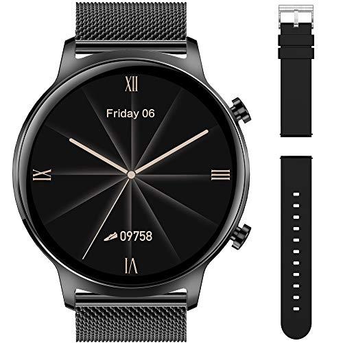 Smartwatch Reloj Inteligente Impermeable IP68 Pulsera Actividad Monitor de Sueño Podómetro Pulsómetro Notificación de Llamada interfaces personalizados con correa de metal adicional para Hombre Mujer