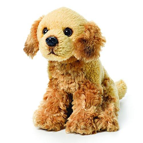 DEMDACO Little Golden Retriever Children's Plush Beanbag Stuffed Animal Toy
