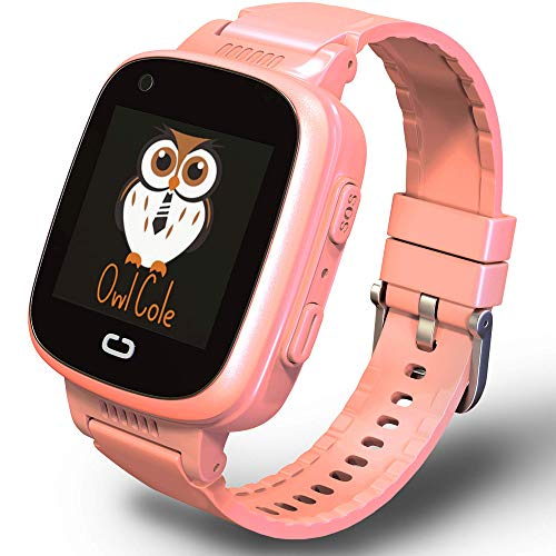 2021 Best 4G GPS Tracker Unlocked Wrist Smart Phone Watch for Kids with Sim Camera Video Call Fitness Tracker Birthday for Children Boys Girls iOS Android Smartphone (Pink)