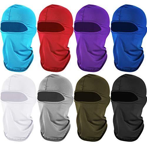 8 Pieces Sun Protection Balaclava Windproof Dustproof Balaclava UV Protection Full Face Cover for...