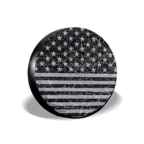 Louise Morrison cozipink Retro Distressed USA Flag Patriotic Spare Tire Cover Wheel Covers for Jeep...