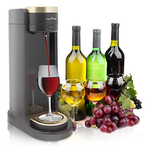Portable Electric Automatic Wine Dispenser - Wine Aerator Pump Alcoholic Drink Server - Easy Flow, Battery Powered Liquor Operating System for Countertop, Party, Bar and More - NutriChef PKWNARDS38