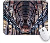 PATINISAマウスパッド Library Ireland Trinity College Dublin Bookshelf Books Collection ゲーミング オフィ良い 滑り止めゴム底 ゲーミングなど適用 マウス 用ノートブックコンピュータマウスマット