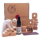 STAFECO - Anelli in legno di cedro per tarme naturale, antitarme e olio (36 pezzi)