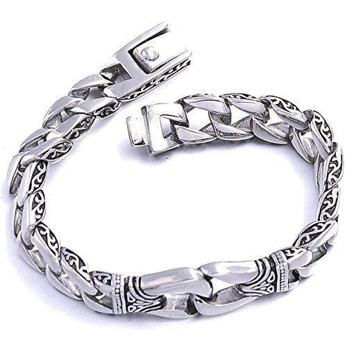 VALYRIA Jewellery Stainless Steel Biker Men's Bracelet,Unique Pattern...