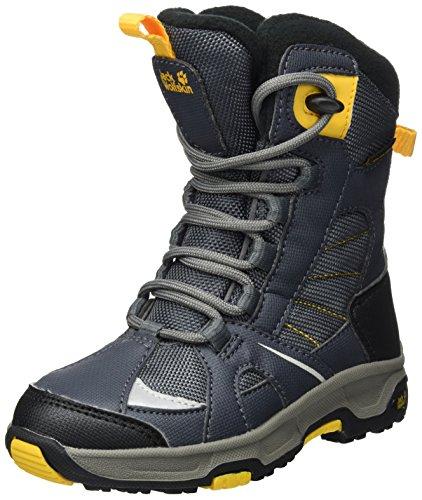 Jack Wolfskin S Snow Ride Texapore, Scarpe da Arrampicata Alta Bambino, Grigio (Burly Yellow Xt 3802), 29 EU