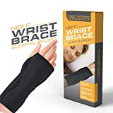 Night Wrist Sleep Support Brace, Carpal Tunnel Wrist Brace Splint Fits Both Hands Cushioned to Help With Carpal Tunnel and Relieve and Treat Wrist Pain, Adjustable