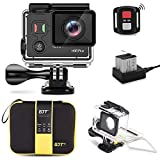 GJT GP1000 WIFI Sports Action Camera 4K 14MP Ultra HD EIS 30M Waterproof Remote Camcorder DV With Panasonic Sensor 170° Wide-Angle Lens, 2 Batteries, Portable Carrying Bag and Mounting Accessories Kit