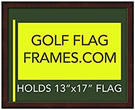 Golf Flag Frames 16x20 Mahogany, Moulding brn-002, Green Mat (holds 13x17 Masters Golf Flags; flag not incl)
