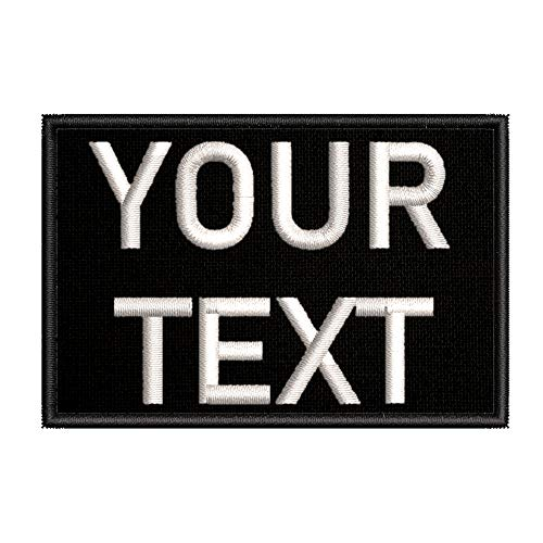Customizable Text Patch - 2x3 Morale Patch - Black