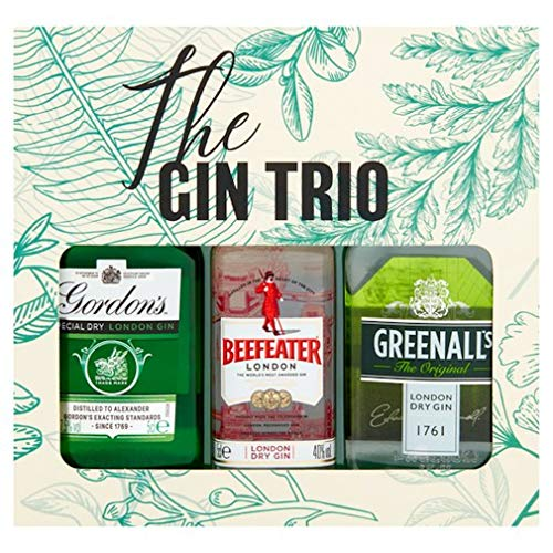 The Gin Trio Selection Gift Set - Gordon's, Beefeater & Greenalls's Dry Gins 5cl