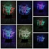 LIkaxyd Creative Musician Drum Kit Set Color Night Light 3D Led Usb Light Mesa Decoración Regalo De Cumpleaños Humor Prop Iluminación
