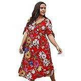 Timagebreze Vestido de Playa Bohemio con Estampado Floral de...