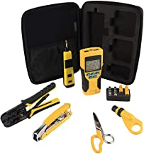Klein Tools VDV001819 Cable Installation Tools Set with Crimpers, Scout Pro 2 Cable Tester, Snips, Punchdown Tool, Carry Case, 6-Piece