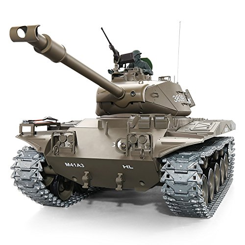 Heng Long Pro Edition TK6.0 Remote Control 2.4Ghz 1/16 Scale US Army M41 Walker Bulldog Infrared Battle RC Tank That Shoot Airsoft BBS, RC Main Battle Tank Steel Alloy Gearbox