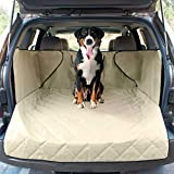 VEHICLE FIT: Our XL sized SUV cargo protector cover will fit most mid-sized SUVs. Fits cargo area that are approximately: 46 inches L X 48 inches W (Excluding side flaps). CONVENIENT: The integrated vehicle pet barrier features a large pocket for toy...