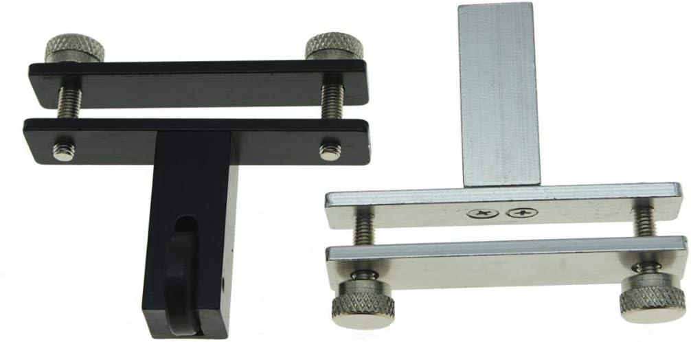 KAISH Black Violin Bridge Fitting Tool Redressal Violin Viola Bridge Tool Violin Metal Bridge Holder Adjustable Violin Luthier Tool