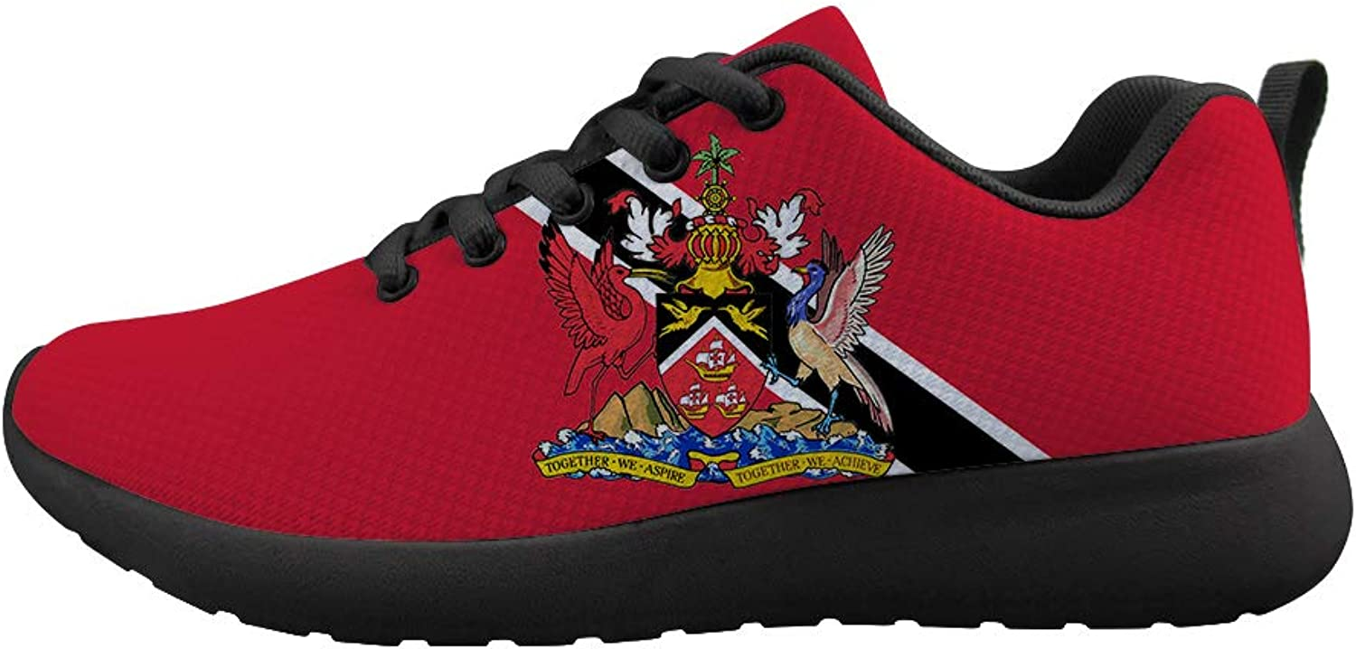 Owaheson Cushioning Sneaker Trail Running shoes Mens Womens Trinidad and Tobago Flag National Emblem