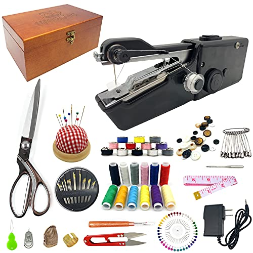 Handheld Sewing Device, Portable Hand Sewing Machine, Wooden Sewing...