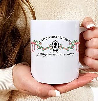 Lady Whistledown's Society Papers mug Spilling Tea since Lady Whistledow mug Daphne the diamond The Duke and I I burn for you