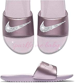 a232aa1dc Nike Slide Women s Rose Pink ~NEW~ Blinged ~ Swarovski Bedazzled Nike  Slides Customized for