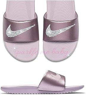 quality design 2d0a2 8f45b Nike Slide Women s Rose Pink ~NEW~ Blinged ~ Swarovski Bedazzled Nike  Slides Customized for