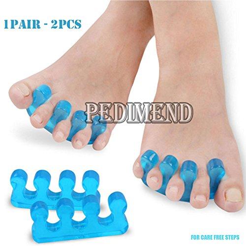 PedimendTM – Blaue Silikon-Zehenspreizer, verhindern ein Überlappen der Zehen und helfen bei der natürlichen Ausrichtung der Zehen, Unisex-Fußpflegemittel