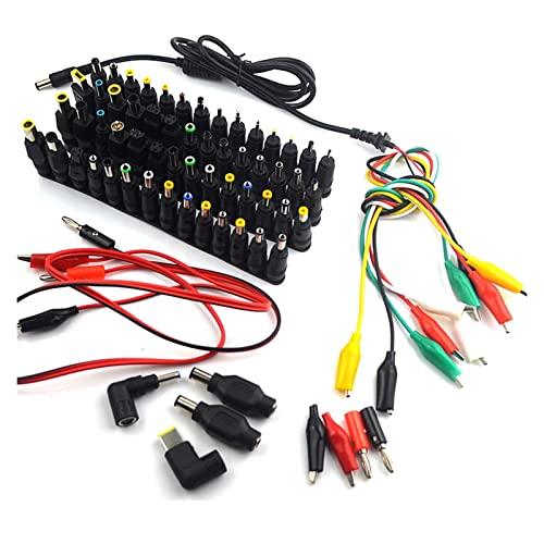75 PCS Universal Portátil corriente continua Enchufe del conector del adaptador de la fuente de alimentación AC DC Conectores de cargador de cabezal de conversión Conectores portátil Power Adapte