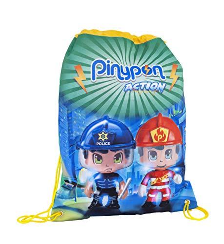 Pinypon Action - Mochila Saco con Cuerdas para niños y niñas a Partir de 3 años (Famosa 700015985)