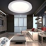 60W LED Lámpara de Techo Regulable Control Remoto Redonda Ultra Delgado Plafón Led de Techo Cocina Pasillo Salón Cocina Dormitorio