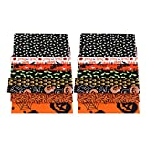 kowaku 16x Halloween Dekoration Baumwollstoff Stoff