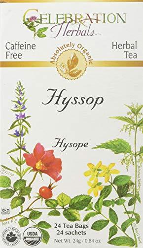 Celebration Herbals Organic Hyssop Tea Caffeine Free - 24 Herbal Tea Bags