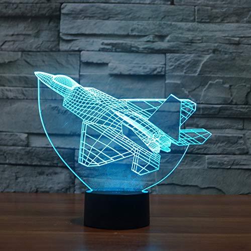 Einzigartige Fighter 3D Schreibtisch Tischlampe Acryl LED farbige Nachtlicht Hersteller Tischlampe Schlafzimmer