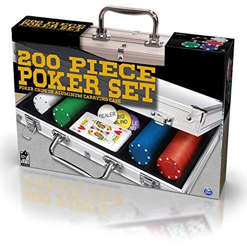 Spinmaster 6036777–Set da Poker in Valigetta di Alluminio (Pezzi)