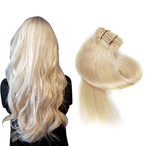 MagischesHaar Clip-60-20 Haarverlängerung, 50 cm, , No.60 Platinum Blonde, Stück: 1