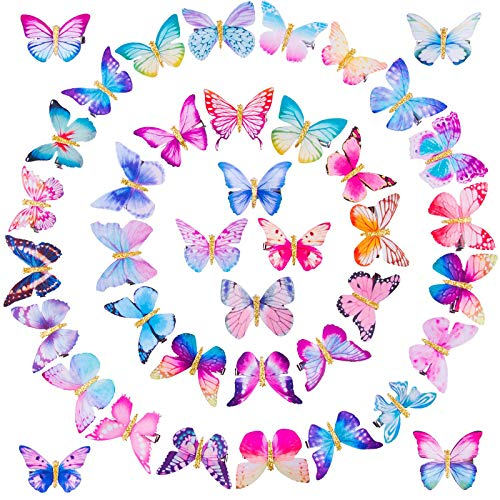 SIQUK 40 Stücke Haarspange Schmetterling Schmetterling-Haarclips Haar Accessoire für Damen Mädchen Kinder Party