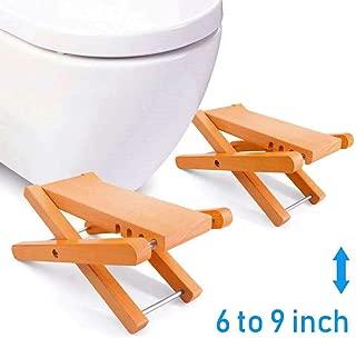 Taillansin Squatting Toilet Stool Fodable Bamboo Wood Bathroom Poop Stool 6