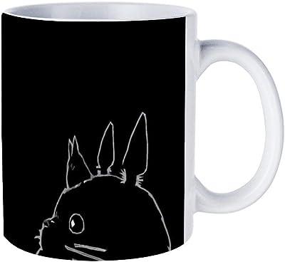 黒のかわいい猫マグカップ おしゃれ セラミック コーヒーマグ 創意コップ かわいい ティーカップ 330ML