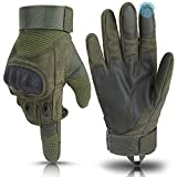 Weitars Full Finger Hard Knuckle Tactical Gloves Men Military Gloves Combat Gloves for Shooting Airsoft Sports Outdoor Motorcycle Hunting (Army Green, Medium)