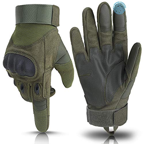 Weitars Full Finger Hard Knuckle Tactical Gloves Men Military Gloves Combat Gloves for Shooting Airsoft Sports Outdoor Motorcycle Hunting