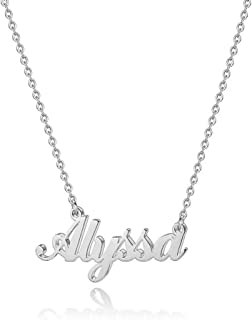 Hidepoo Custom Name Necklace Personalized � Stainless Steel Customized Name Pendant Necklace,Dainty Letter Name Necklace Chain Custom Personalized Jewelry Gifts for Women Girls
