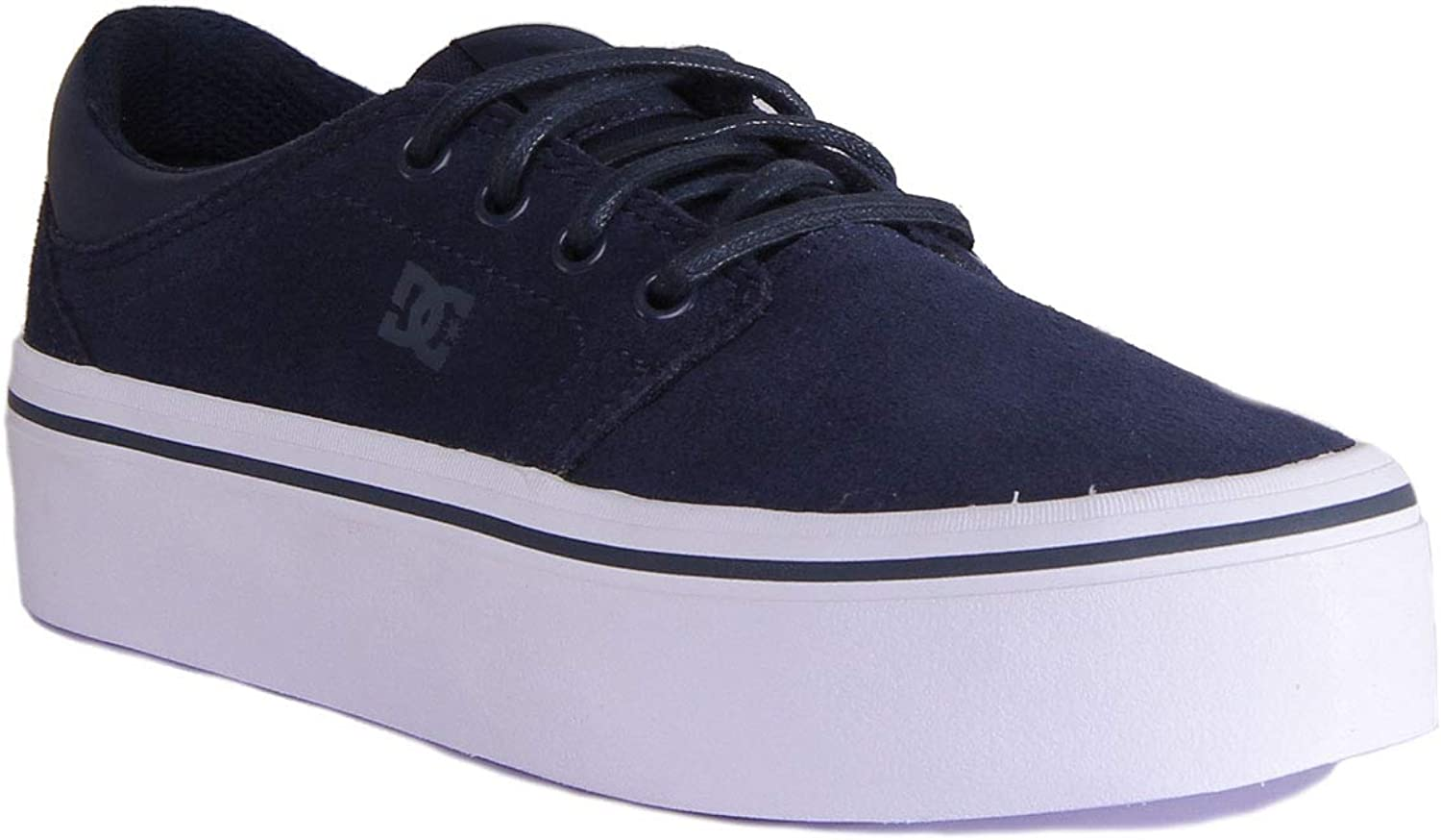 DC shoes Trase Platform Trainers in Navy