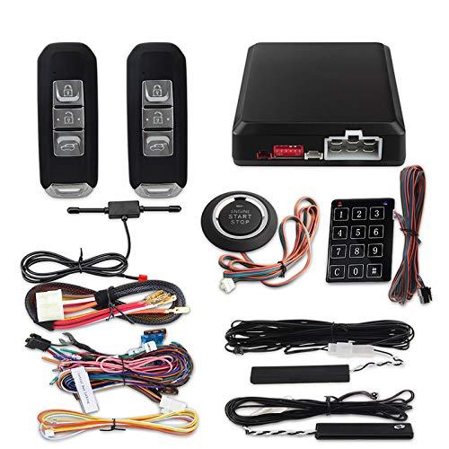 GLLXPZ Sistema de Alarma de Seguridad para automóviles con Arranque de Motor sin Llave pasivo PKE sin Llave Arranque con botón pulsador 12V