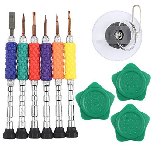 un known 12 en 1 kit de herramientas de reparación profesional de destornilladores transparentes mantenimiento