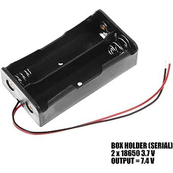 OcioDual Caja Doble Batería Modelo 18650 en Serie 2S1P: Amazon.es: Electrónica