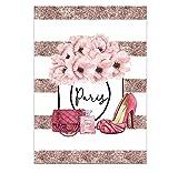 JWJW Wandgemälde Leinwand Poster Parfüm Mode Poster