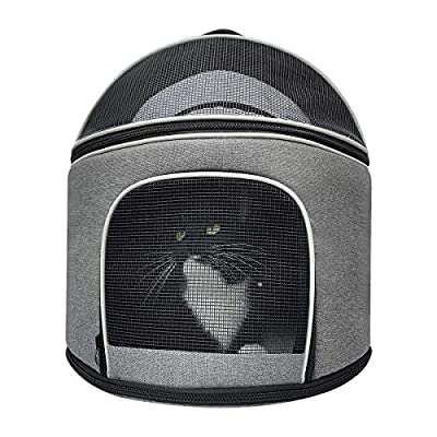 Meow&Woof Cat Carrier for Large Cats Kitten House Indoor Versatile Use Pet Kennel for Medium Small Animals High-End Carrier for Car Travel