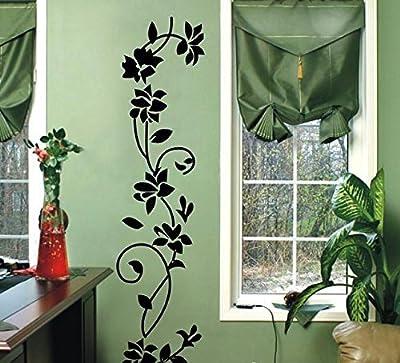 Rattan Flower Removable Vinyl Wall Decor Decal Sticker